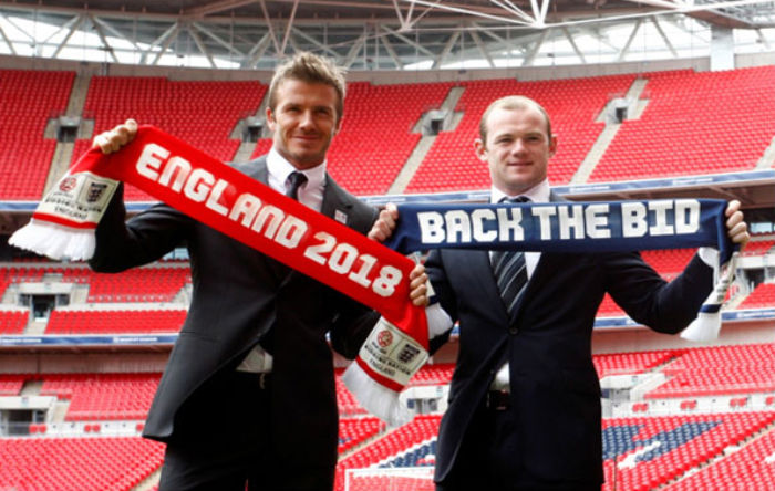 2018-England-World-Cup-bid---Rooney-and-Beckham