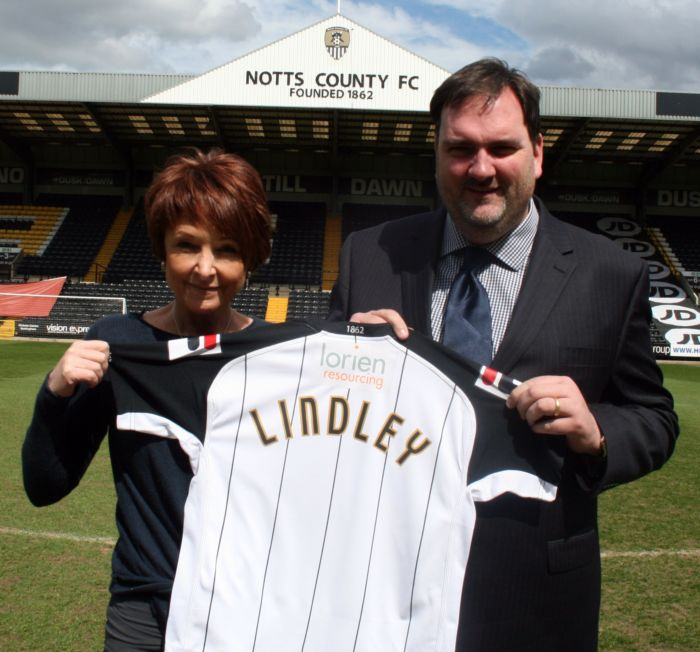 Aileen Trew - Director Notts County FC & Matthew Nicholson - Lindley's Midlands Regional Manager