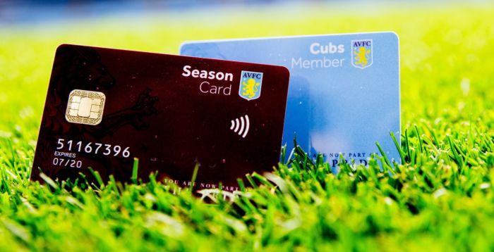 Aston Villa loyalty card