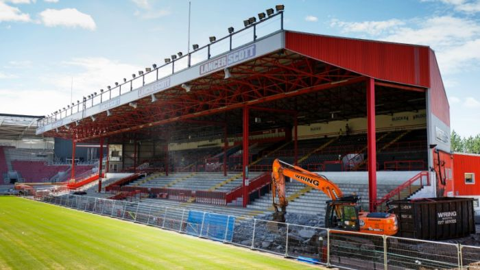 B City Williams Stand demoilshed