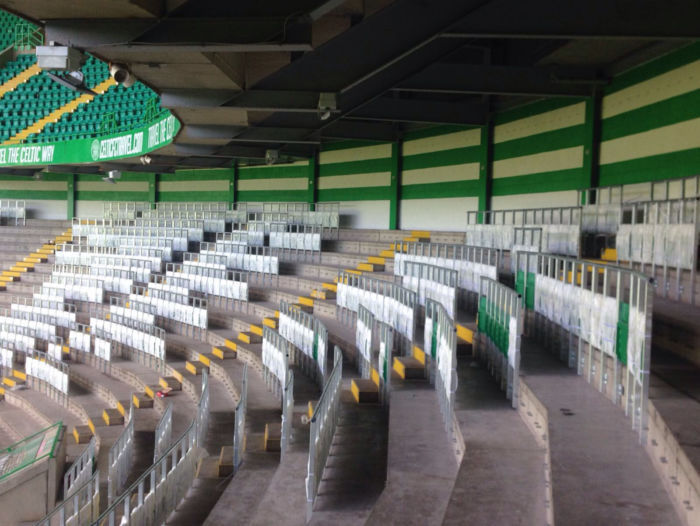 Celtic Stadium Railseat Installation
