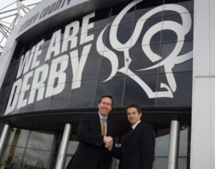 Derby County sign with Esker
