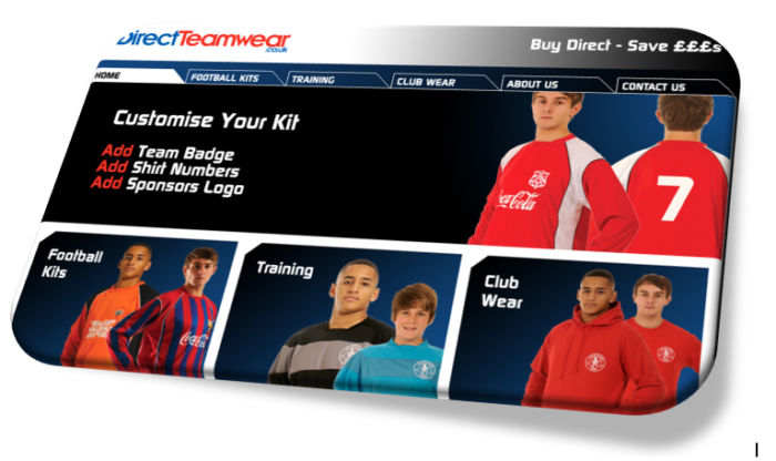 Direct-Teamwear-website