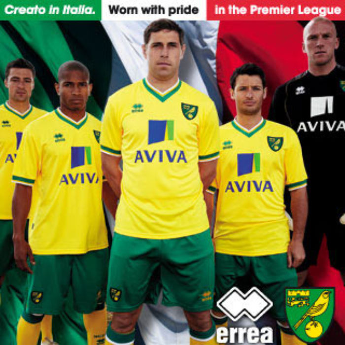 Errea sign with Norwich