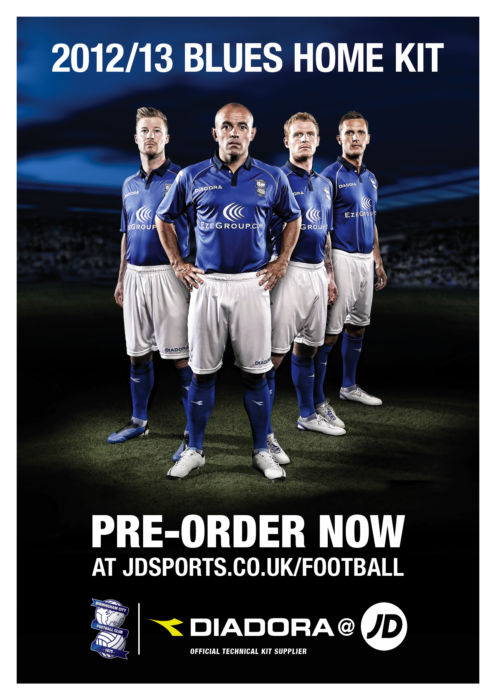 JD048 Birmingham City HOME A3 Poster