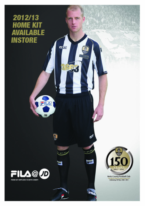 JD048 NOTTS HOME KIT A3 POSTER