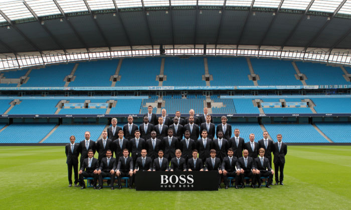 MCFC First Team in Hugo Boss High res