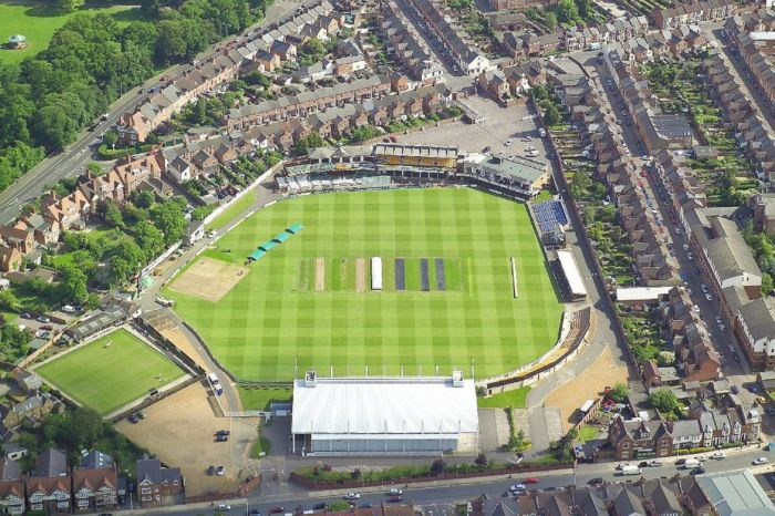 Northants Cricket arial view ev