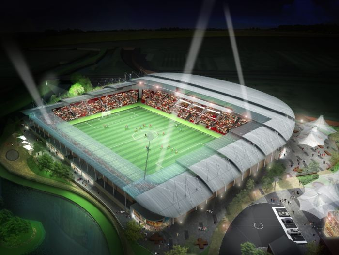 Rotherham United FC's New York Stadium - artist impression ev