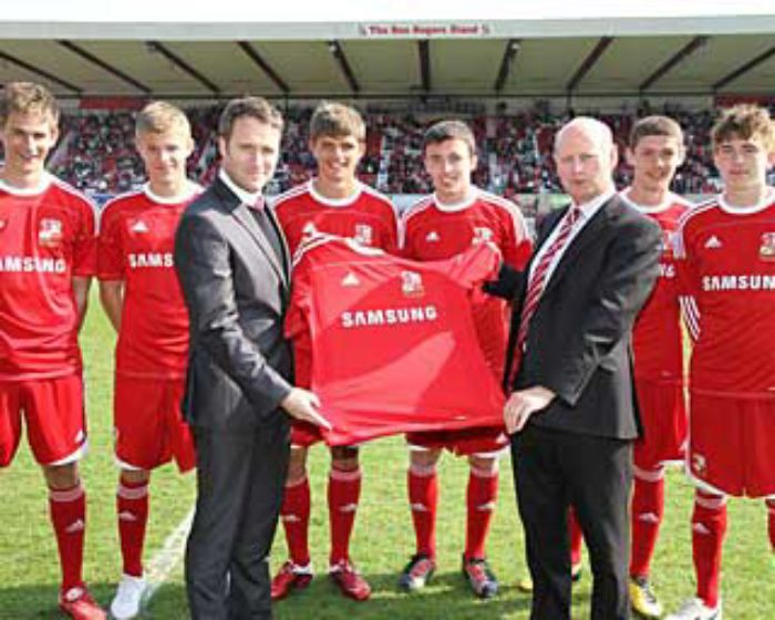 Swindon Town land Samsung deal